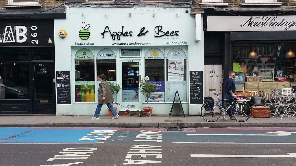 """Photo of Sprout Juicery  by <a href=""""/members/profile/jollypig"""">jollypig</a> <br/>From across the road (Sprout Juicery is inside Apples & Bees) <br/> April 29, 2017  - <a href='/contact/abuse/image/48895/253702'>Report</a>"""