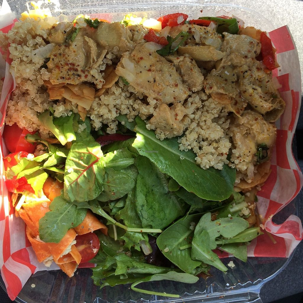 "Photo of Rawtopian Bliss Cafe  by <a href=""/members/profile/KatieBush"">KatieBush</a> <br/>artichicken salad <br/> September 25, 2017  - <a href='/contact/abuse/image/48900/308221'>Report</a>"