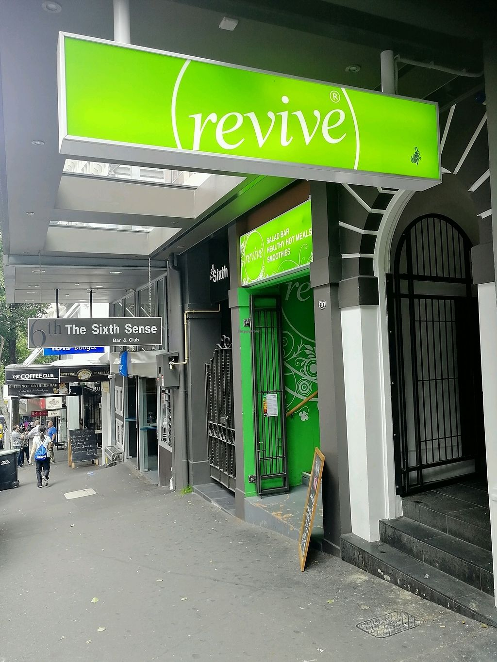 """Photo of Revive Vegetarian Cafe - Wyndham St  by <a href=""""/members/profile/salioma"""">salioma</a> <br/>The entrance <br/> February 20, 2018  - <a href='/contact/abuse/image/4893/361532'>Report</a>"""