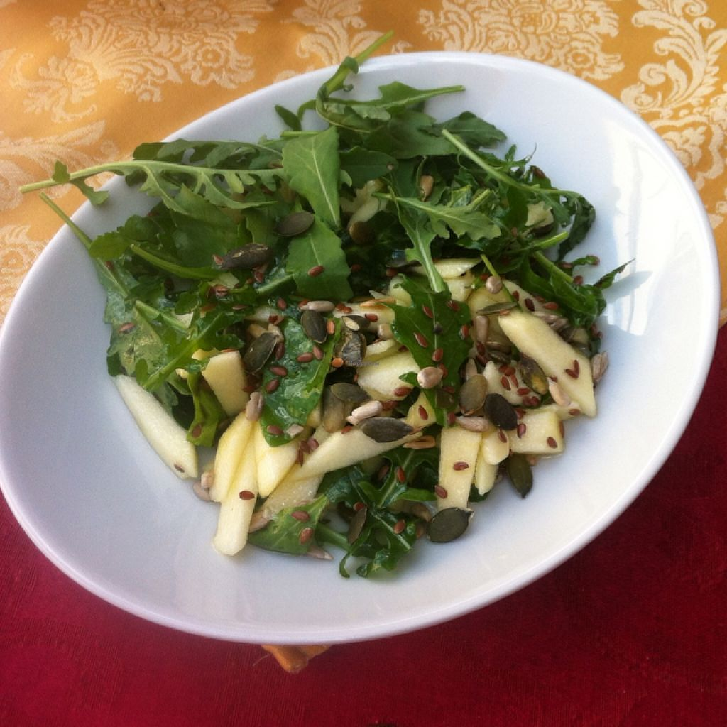 "Photo of CLOSED: Ben D'Iddio  by <a href=""/members/profile/Nibs"">Nibs</a> <br/>vegana salad with apple, seeds, and a nice light dressing  <br/> September 9, 2015  - <a href='/contact/abuse/image/48951/117019'>Report</a>"