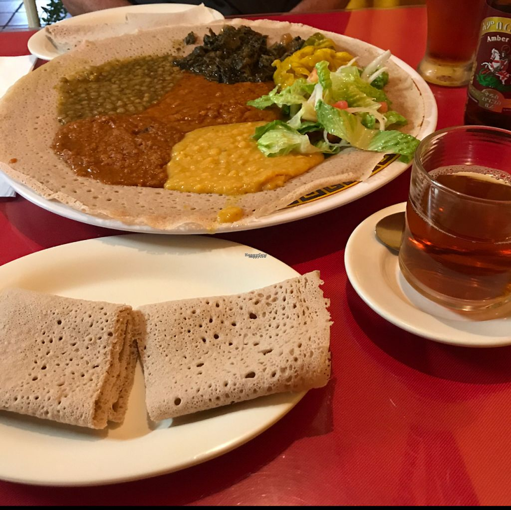 """Photo of Abyssinia Restaurant  by <a href=""""/members/profile/gogiants%21"""">gogiants!</a> <br/>vegan combo <br/> April 20, 2017  - <a href='/contact/abuse/image/48953/250106'>Report</a>"""