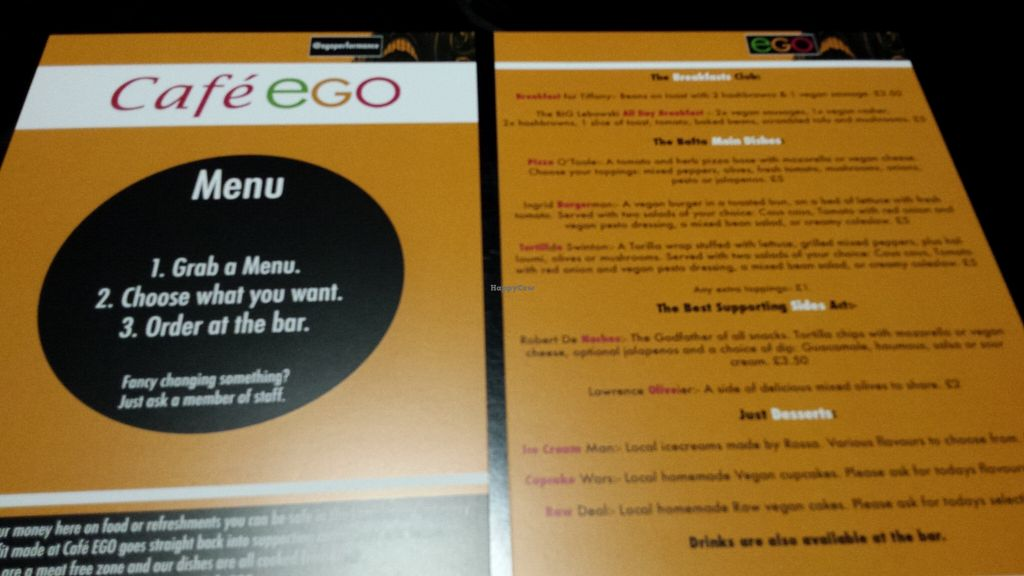 """Photo of CLOSED: Cafe EGO  by <a href=""""/members/profile/Good%20for%20Vegans"""">Good for Vegans</a> <br/>New menu <br/> September 4, 2015  - <a href='/contact/abuse/image/48969/116398'>Report</a>"""