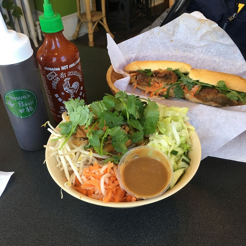 """Photo of Simply Banh Mi  by <a href=""""/members/profile/clarebear9"""">clarebear9</a> <br/>Noodles and sandwich  <br/> March 4, 2018  - <a href='/contact/abuse/image/48980/366714'>Report</a>"""