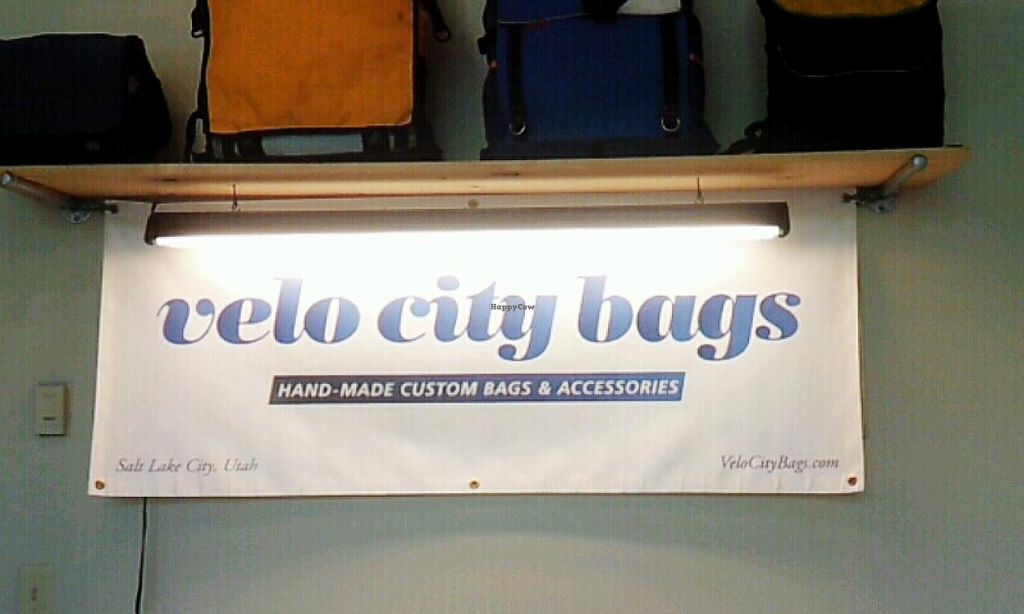 Photo of Velo City Bags  by Navegante <br/>Sep 2014, interior sign <br/> September 15, 2014  - <a href='/contact/abuse/image/48989/80036'>Report</a>