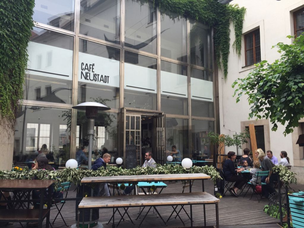 """Photo of Cafe Neustadt  by <a href=""""/members/profile/rackoo"""">rackoo</a> <br/>Patio in summer <br/> June 21, 2016  - <a href='/contact/abuse/image/48991/155244'>Report</a>"""