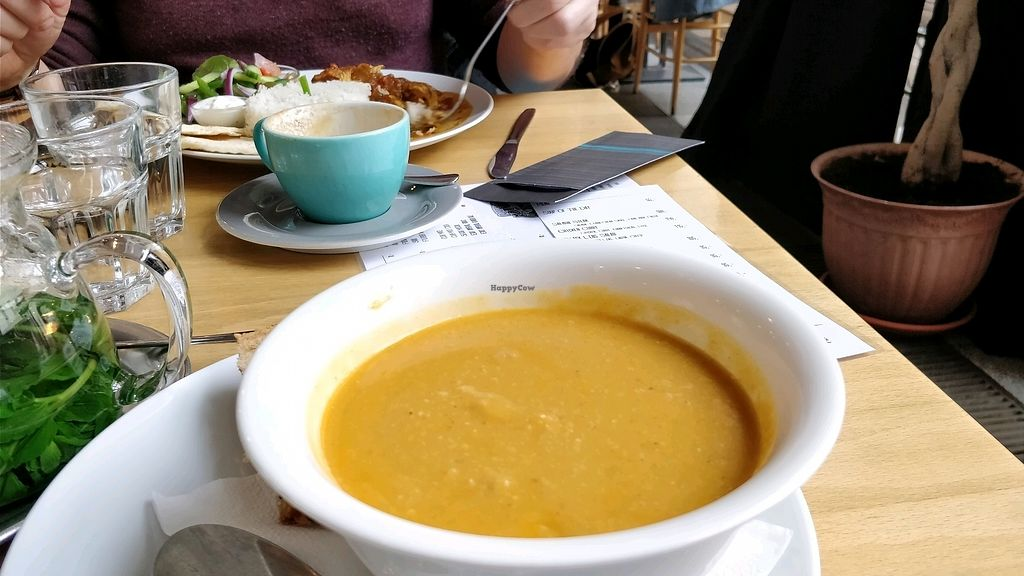 """Photo of Cafe Neustadt  by <a href=""""/members/profile/Suethurrold"""">Suethurrold</a> <br/>chickpea soup <br/> February 2, 2018  - <a href='/contact/abuse/image/48991/354034'>Report</a>"""