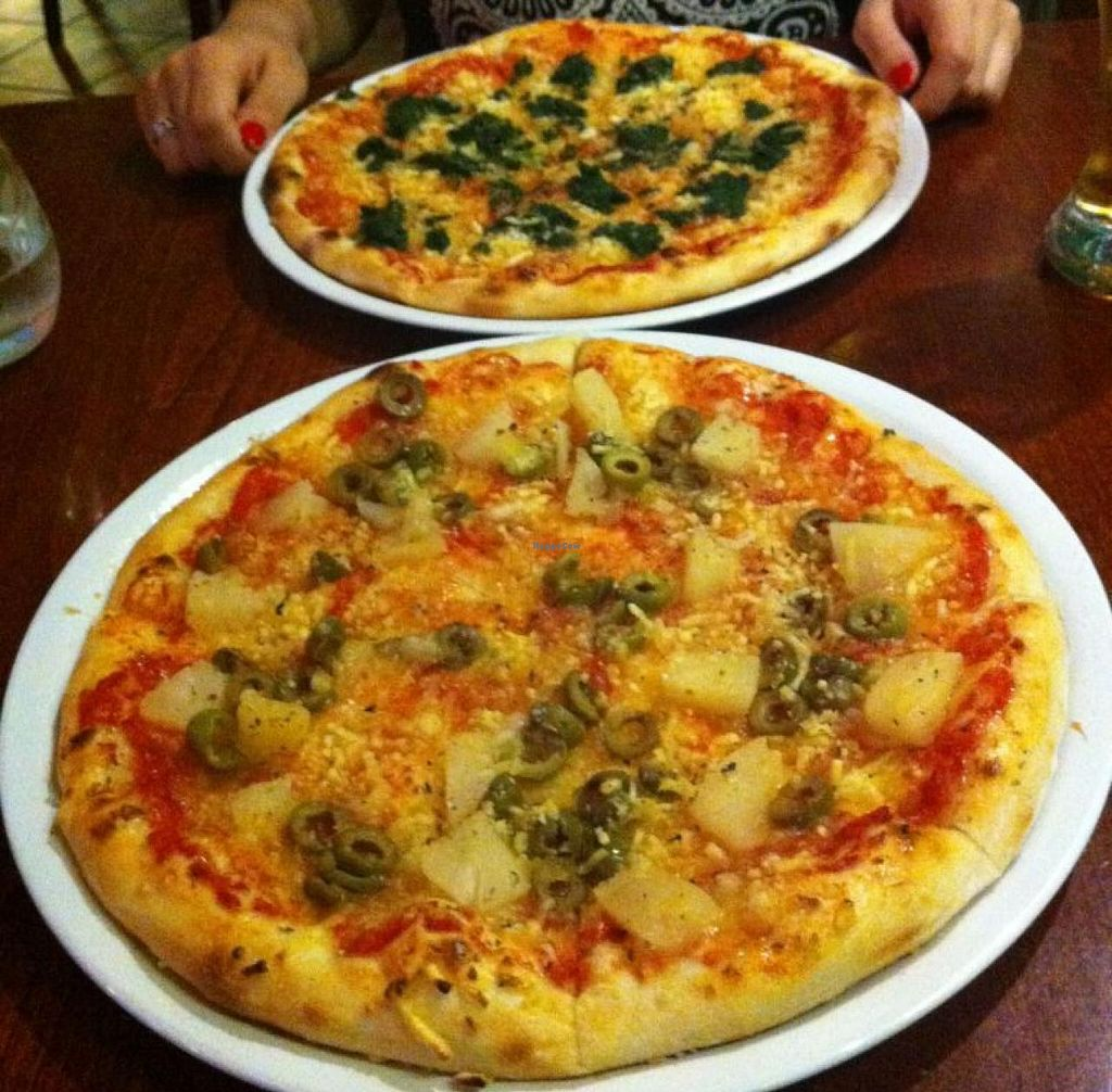 """Photo of Zdrava Pizza  by <a href=""""/members/profile/elbobro"""">elbobro</a> <br/>Vegan pizzas at Malbo <br/> August 29, 2014  - <a href='/contact/abuse/image/48996/78588'>Report</a>"""