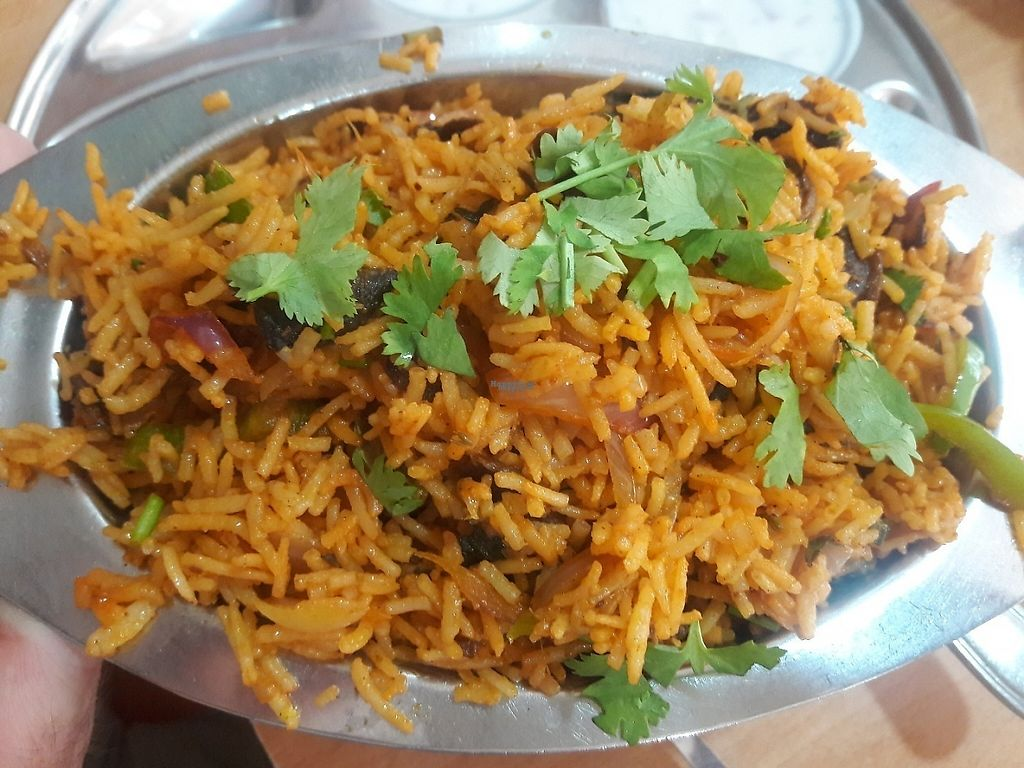 "Photo of Saravana Bhavan- Bur Dubai  by <a href=""/members/profile/Sonja%20and%20Dirk"">Sonja and Dirk</a> <br/>mushroom biriyani <br/> March 27, 2017  - <a href='/contact/abuse/image/4899/241883'>Report</a>"