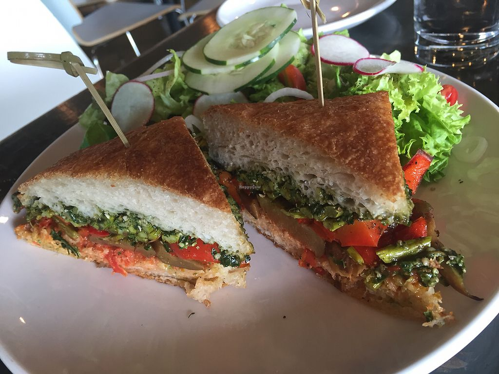 """Photo of Avo  by <a href=""""/members/profile/aWiiPeanut"""">aWiiPeanut</a> <br/>Eggplant sandwich with beer ketchup and pesto <br/> September 14, 2017  - <a href='/contact/abuse/image/49007/304370'>Report</a>"""