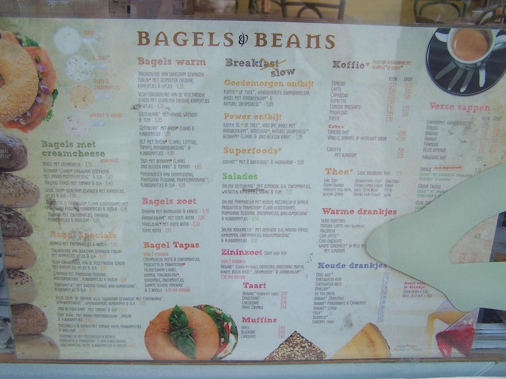 """Photo of Bagels & Beans - Haarlemmerdijk  by <a href=""""/members/profile/Amy1274"""">Amy1274</a> <br/>Menu as of 2014 <br/> July 19, 2014  - <a href='/contact/abuse/image/49016/74504'>Report</a>"""