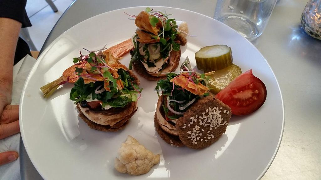"""Photo of CLOSED: RASA Kitchen + Juice Bar  by <a href=""""/members/profile/bduboff"""">bduboff</a> <br/>mushroom sliders <br/> April 28, 2015  - <a href='/contact/abuse/image/49022/100590'>Report</a>"""