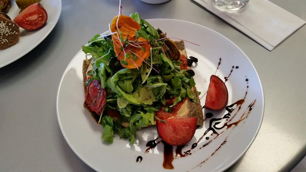 """Photo of CLOSED: RASA Kitchen + Juice Bar  by <a href=""""/members/profile/bduboff"""">bduboff</a> <br/>pizza?!?! whatever, it's delicious and yes it tastes like pizza!!! <br/> April 28, 2015  - <a href='/contact/abuse/image/49022/100591'>Report</a>"""
