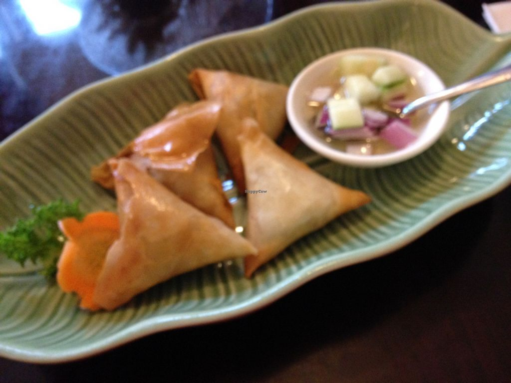 """Photo of Forest Thai  by <a href=""""/members/profile/nardanddee"""">nardanddee</a> <br/>potato samosas <br/> December 1, 2015  - <a href='/contact/abuse/image/49029/126810'>Report</a>"""