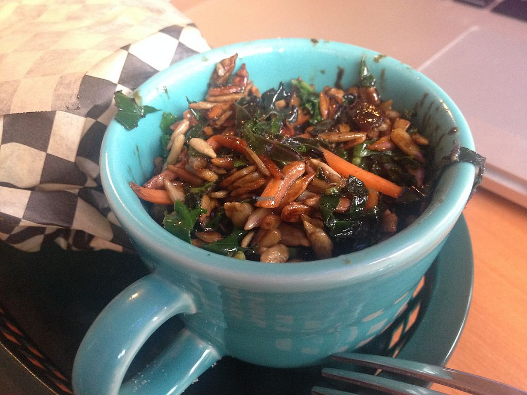 "Photo of Shambala Bakery and Bistro  by <a href=""/members/profile/NorthFalke"">NorthFalke</a> <br/>Warm kale salad, very tasty with a balsamic reduction <br/> January 25, 2017  - <a href='/contact/abuse/image/49034/216799'>Report</a>"