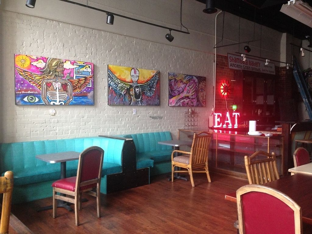 "Photo of Shambala Bakery and Bistro  by <a href=""/members/profile/Maccabee"">Maccabee</a> <br/>Beautiful paintings in the Restaurant! <br/> February 21, 2017  - <a href='/contact/abuse/image/49034/228661'>Report</a>"