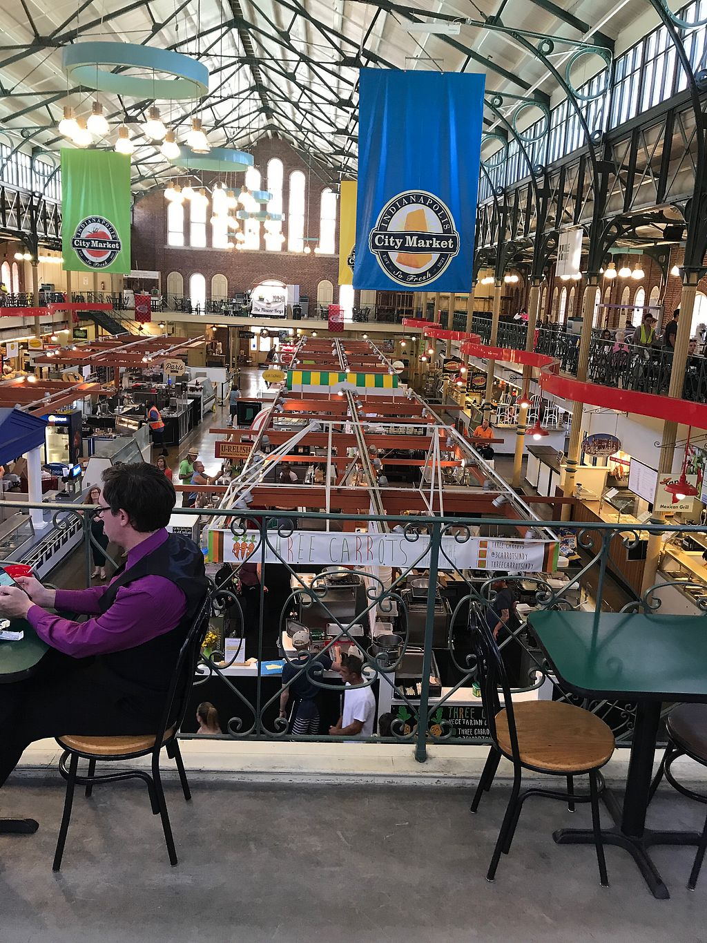 """Photo of Three Carrots - City Market  by <a href=""""/members/profile/LucyBolden"""">LucyBolden</a> <br/>The Market from seating area <br/> July 26, 2017  - <a href='/contact/abuse/image/49037/284931'>Report</a>"""