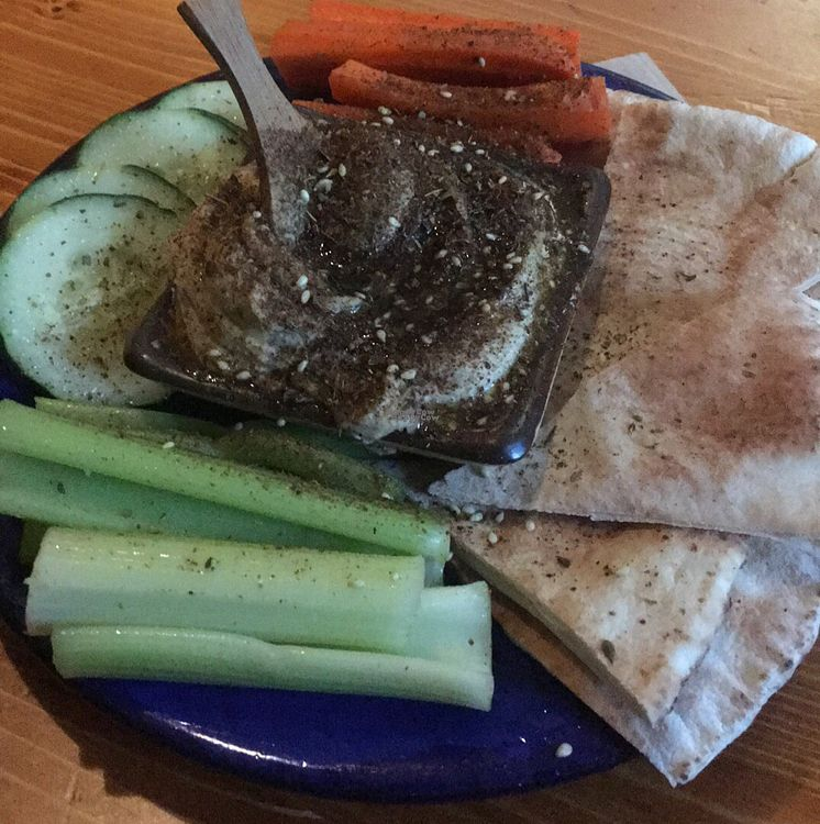 """Photo of Dobra Tea  by <a href=""""/members/profile/NathanOriol"""">NathanOriol</a> <br/>hummus plate <br/> September 23, 2016  - <a href='/contact/abuse/image/49038/177624'>Report</a>"""