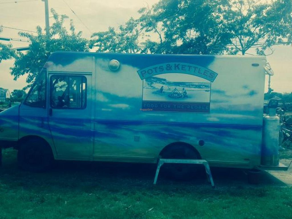 """Photo of Pots and Kettles Food Truck  by <a href=""""/members/profile/apuerini"""">apuerini</a> <br/>Hand Painted Truck. Very Cool! <br/> July 26, 2014  - <a href='/contact/abuse/image/49052/75187'>Report</a>"""