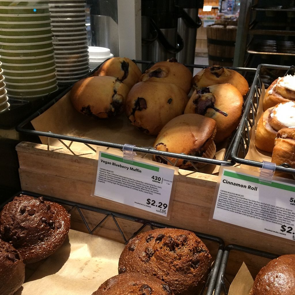 """Photo of Whole Foods Market - Broad St  by <a href=""""/members/profile/KatieBush"""">KatieBush</a> <br/>vegan options in bakery <br/> October 9, 2017  - <a href='/contact/abuse/image/49084/313753'>Report</a>"""