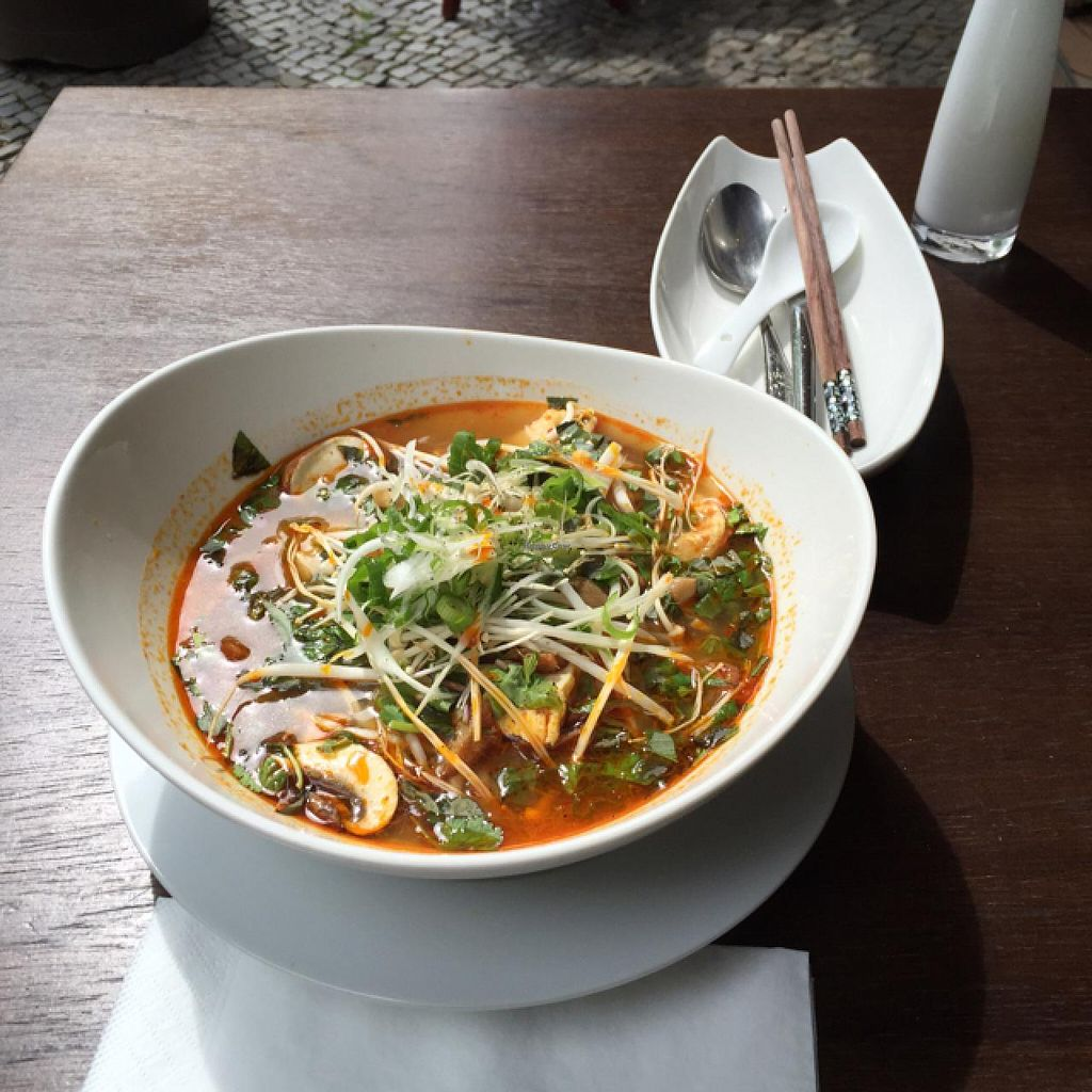 """Photo of CLOSED: Sala  by <a href=""""/members/profile/DaveAsher"""">DaveAsher</a> <br/>vegan soup, plenty of tofu! <br/> May 8, 2015  - <a href='/contact/abuse/image/49104/101641'>Report</a>"""