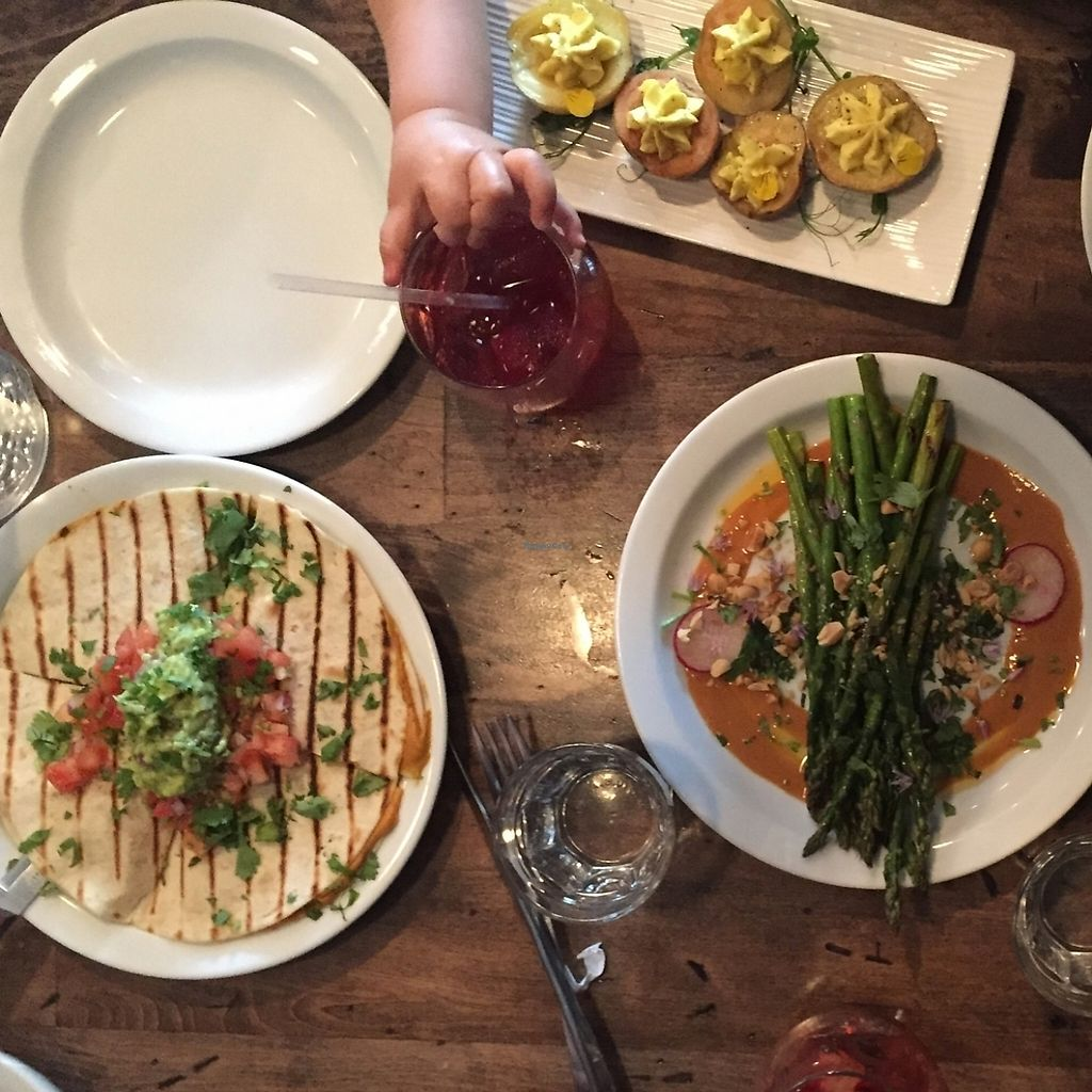 """Photo of Modern Love  by <a href=""""/members/profile/Twee%20G"""">Twee G</a> <br/>appetizers. deviled potatoes, asparagus dish, & quesadilla  <br/> April 19, 2016  - <a href='/contact/abuse/image/49171/207514'>Report</a>"""