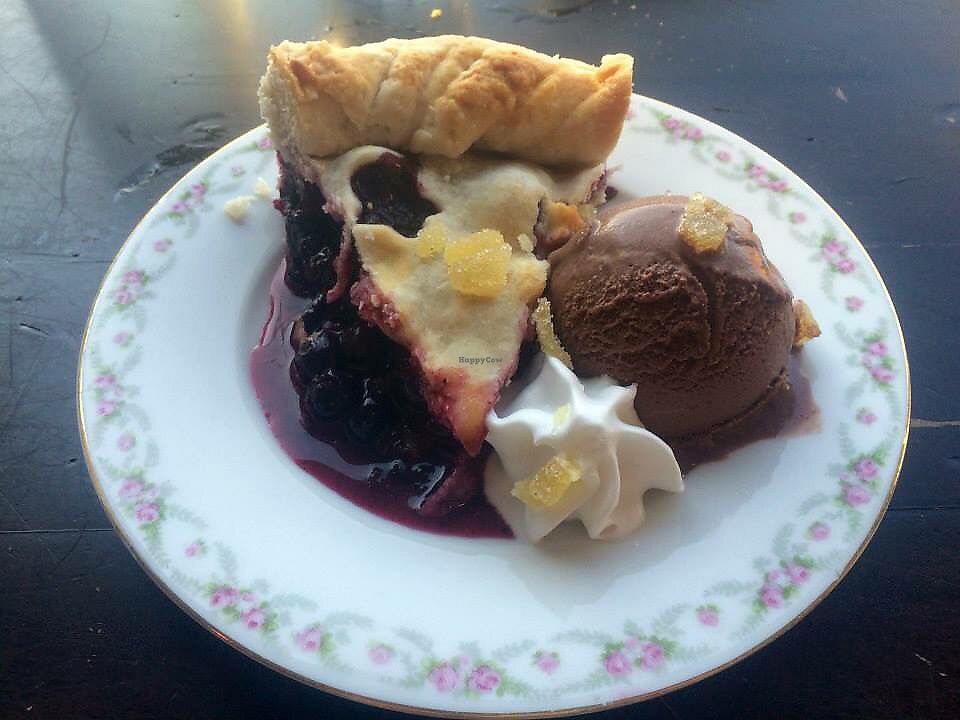"""Photo of Modern Love  by <a href=""""/members/profile/srblck"""">srblck</a> <br/>Blueberry ginger pie, coconut whip, chocolate ice cream <br/> March 3, 2018  - <a href='/contact/abuse/image/49171/366094'>Report</a>"""