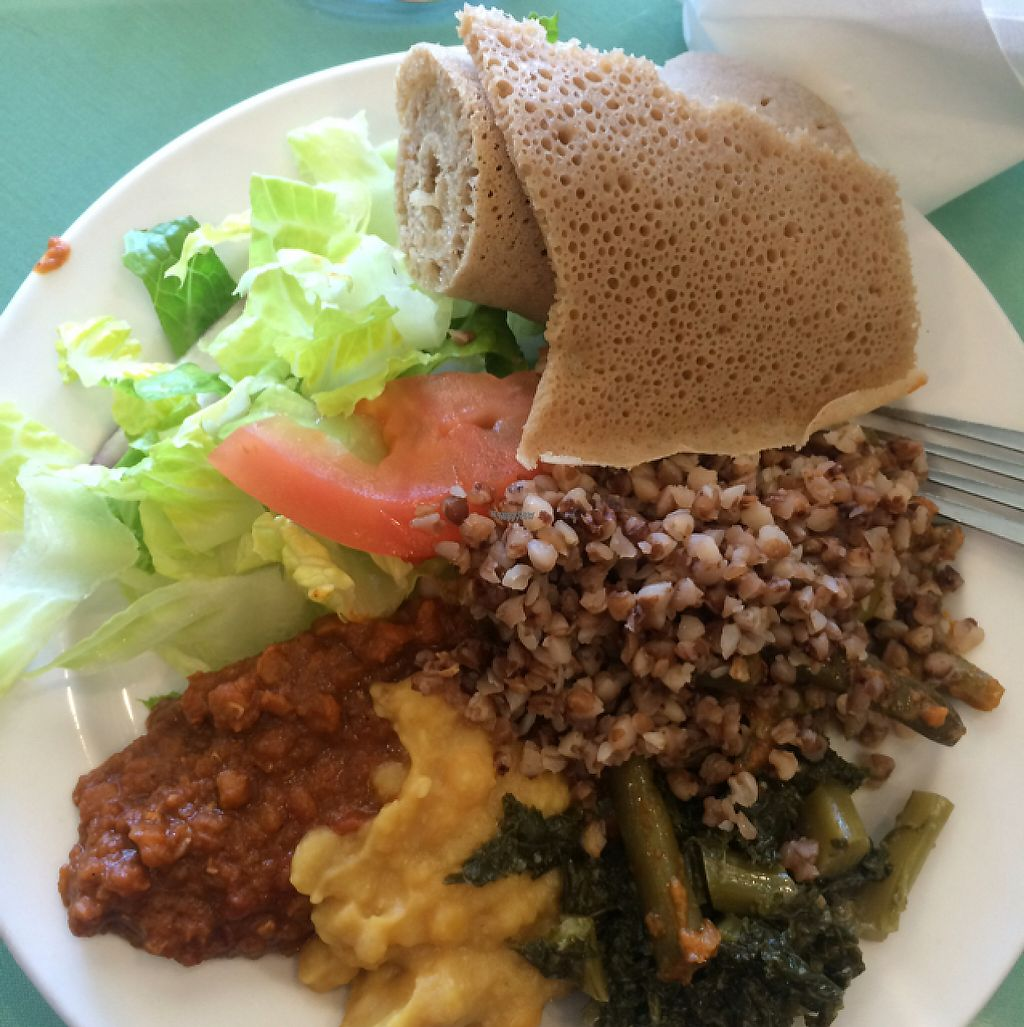 "Photo of Rahel Ethiopian Vegan Cuisine  by <a href=""/members/profile/Reyanne86"">Reyanne86</a> <br/>All you can eat buffet $12.95 from 11am-3pm!!  <br/> March 27, 2017  - <a href='/contact/abuse/image/4917/241832'>Report</a>"