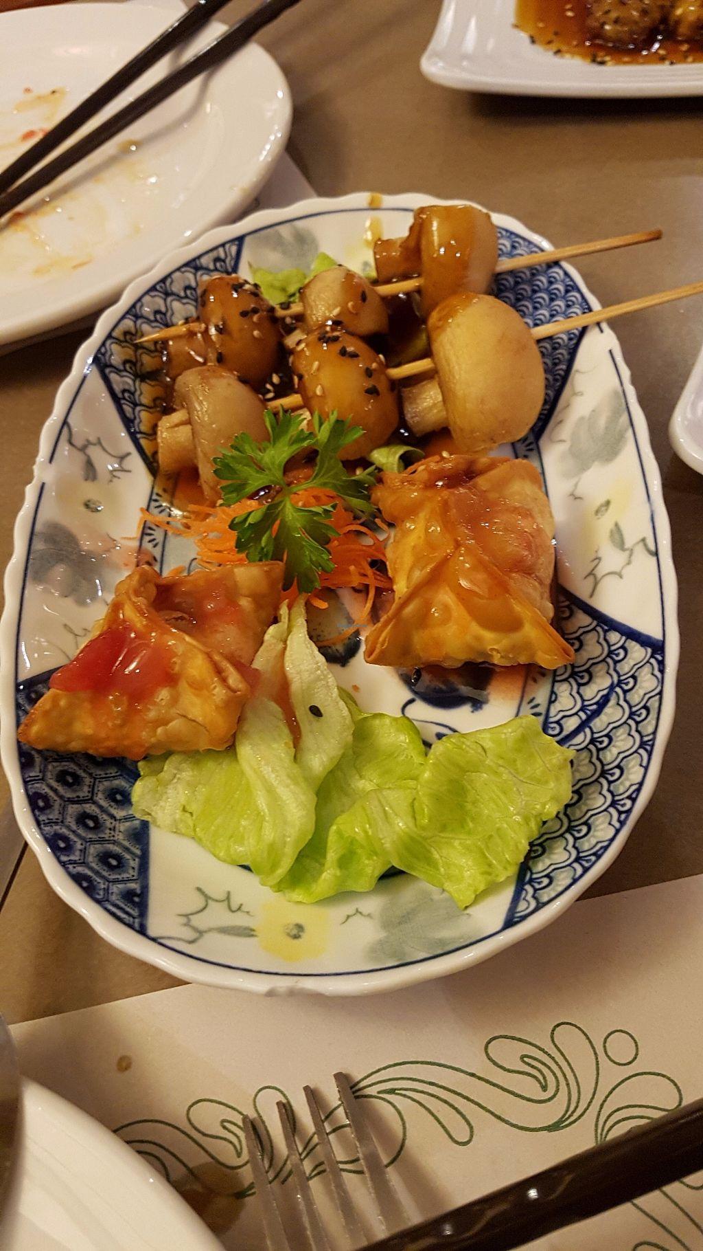 "Photo of Yuan Vegetarien  by <a href=""/members/profile/JonJon"">JonJon</a> <br/>Mushroom skewers and samossas <br/> July 28, 2017  - <a href='/contact/abuse/image/4918/285867'>Report</a>"