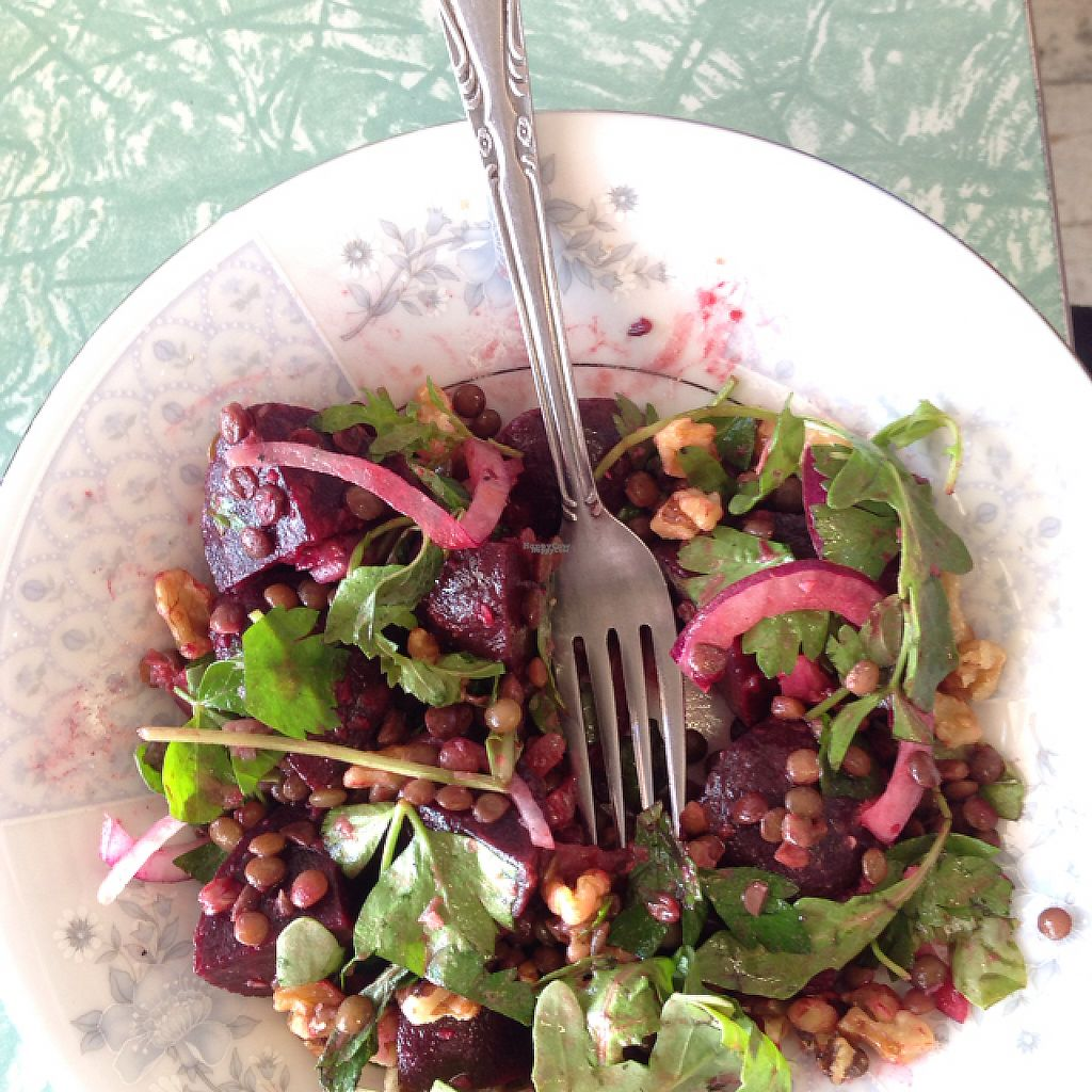 "Photo of Heartfelt Cafe  by <a href=""/members/profile/geoffmerritt"">geoffmerritt</a> <br/>beetroot and lentil salad  <br/> March 31, 2017  - <a href='/contact/abuse/image/49216/242922'>Report</a>"
