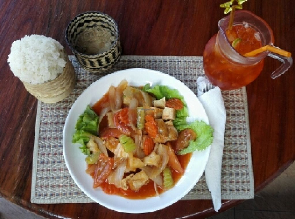 """Photo of Visoun  by <a href=""""/members/profile/HanniSchmidt"""">HanniSchmidt</a> <br/>sweet and sour vegetables with bean curd and sticky rice <br/> January 29, 2016  - <a href='/contact/abuse/image/49244/134041'>Report</a>"""