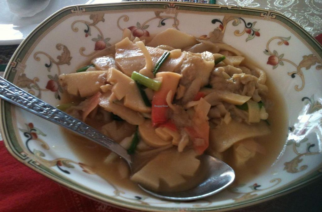 """Photo of Visoun  by <a href=""""/members/profile/walkingvegan"""">walkingvegan</a> <br/>Sautee bamboo sprout with mushroom for 25000 k <br/> July 27, 2014  - <a href='/contact/abuse/image/49244/75266'>Report</a>"""