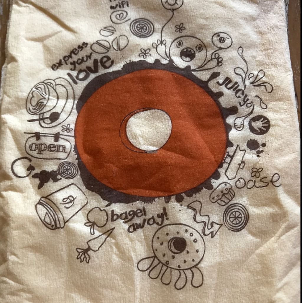 """Photo of Bagels & Beans - Bos en Lommerweg  by <a href=""""/members/profile/MCN"""">MCN</a> <br/>love the napkins! <br/> April 9, 2017  - <a href='/contact/abuse/image/49247/246193'>Report</a>"""