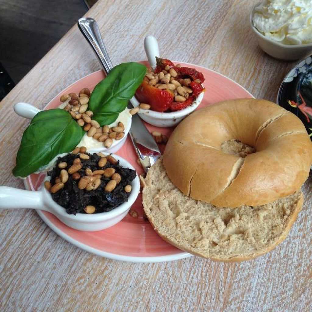 """Photo of Bagels & Beans - Van Baerlestraat  by <a href=""""/members/profile/tatjanabanana"""">tatjanabanana</a> <br/>my Tuscan bagel! <br/> October 18, 2014  - <a href='/contact/abuse/image/49259/83241'>Report</a>"""