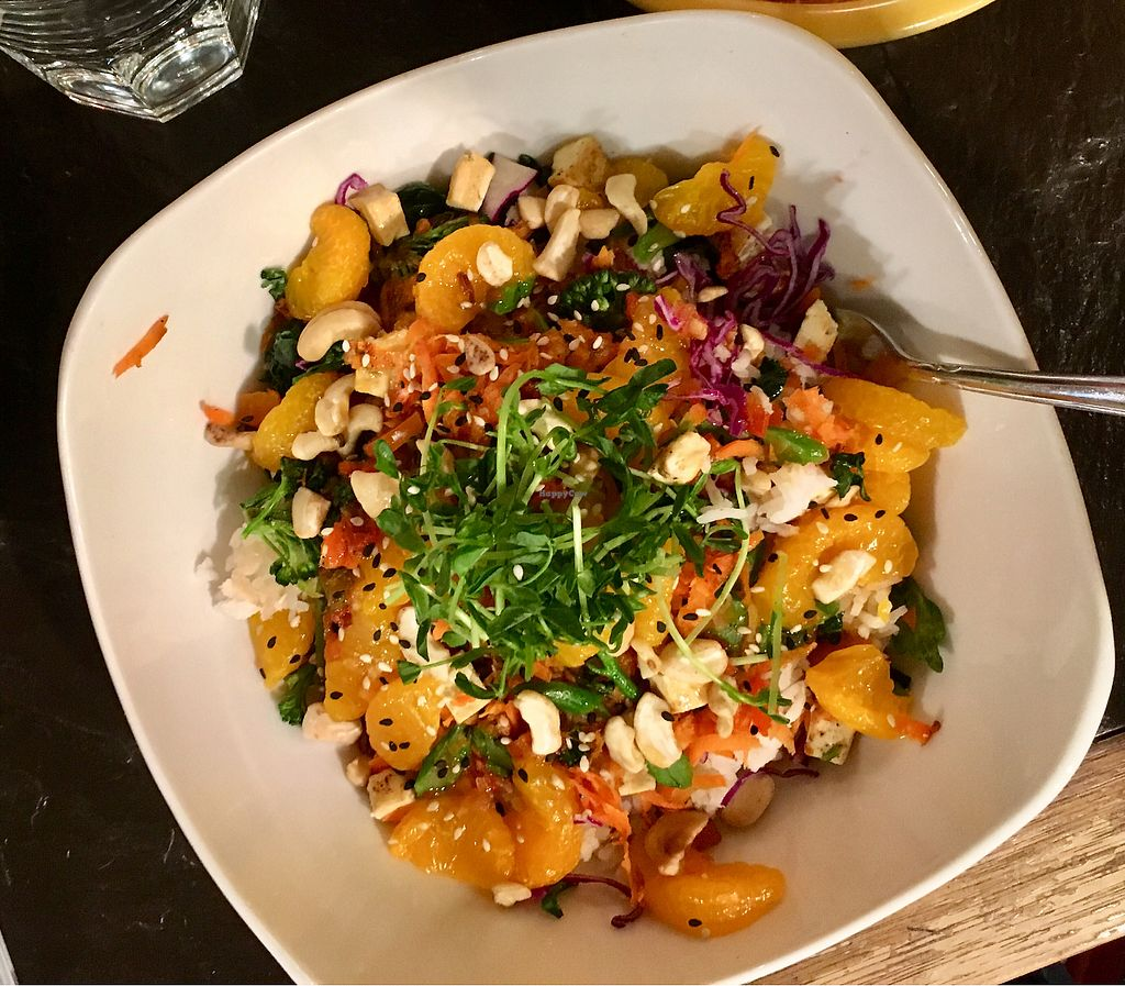"Photo of Rootz  by <a href=""/members/profile/Jennbikk"">Jennbikk</a> <br/>Spicy citrus Buddha bowl... delicious! <br/> December 19, 2017  - <a href='/contact/abuse/image/49281/337108'>Report</a>"