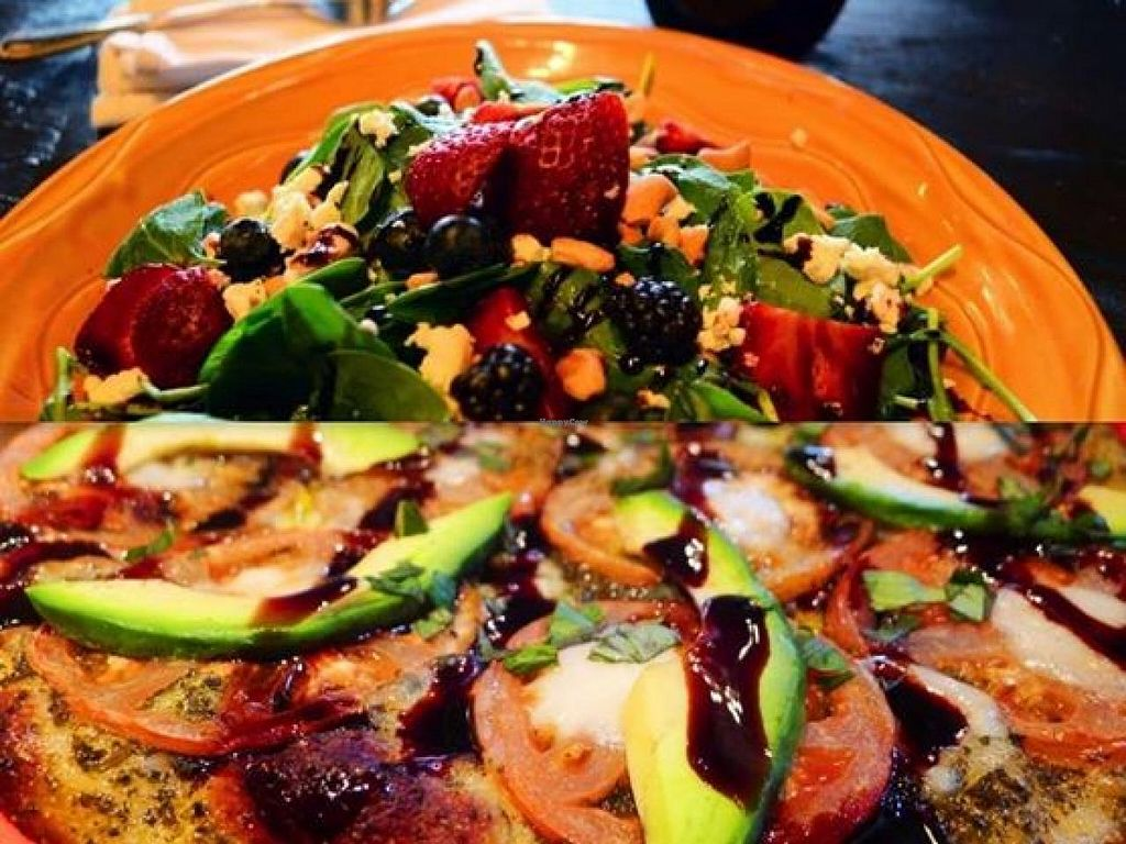 "Photo of CLOSED: ZaZaZa  by <a href=""/members/profile/ErinWallace"">ErinWallace</a> <br/>California Caprese Pizza with a Strawberry Fields salad! <br/> August 12, 2014  - <a href='/contact/abuse/image/49296/76794'>Report</a>"