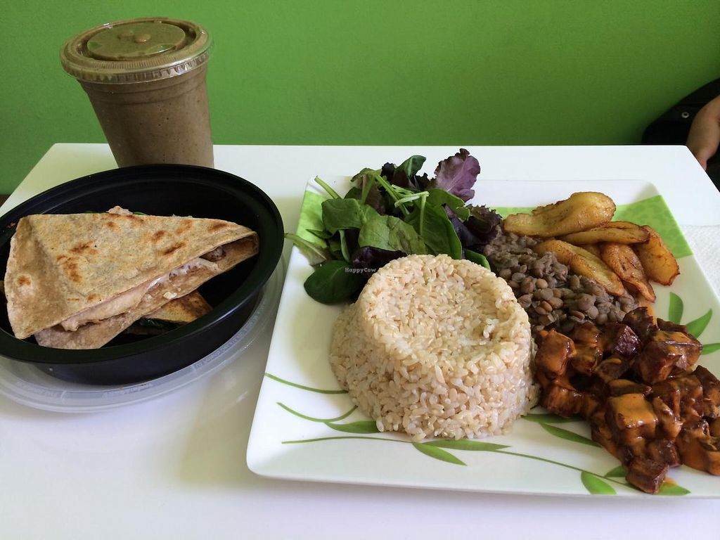 """Photo of VLife  by <a href=""""/members/profile/Isamara"""">Isamara</a> <br/>Creamy carne platter and Quesadilla  <br/> April 5, 2015  - <a href='/contact/abuse/image/49302/97920'>Report</a>"""