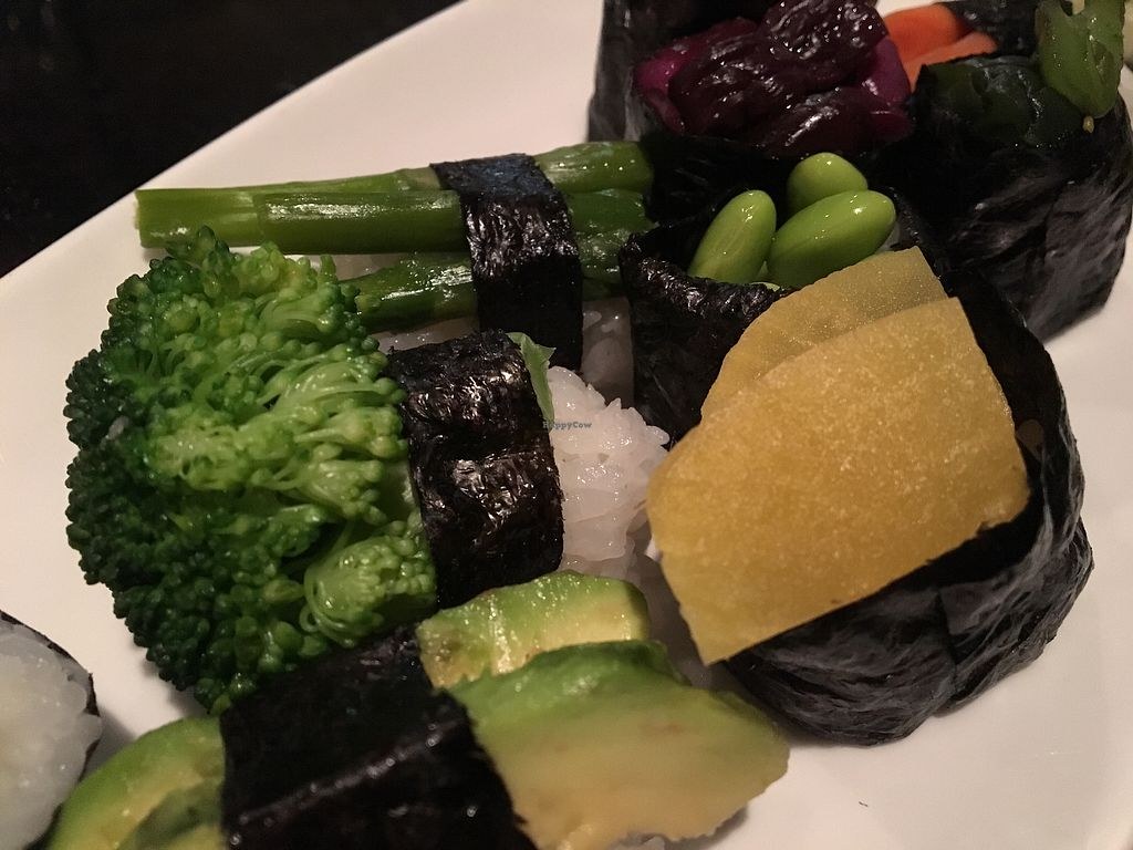 "Photo of Nagoya Sushi  by <a href=""/members/profile/LilMsVegan"">LilMsVegan</a> <br/>Veggie sushi <br/> February 16, 2018  - <a href='/contact/abuse/image/49304/359997'>Report</a>"