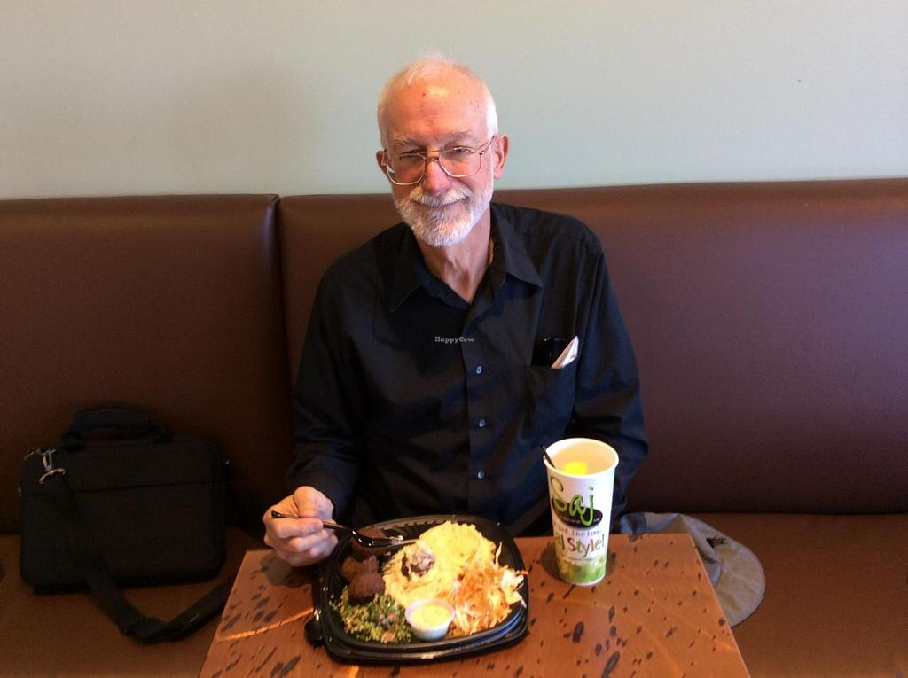 """Photo of Saj Mediterranean Grill  by <a href=""""/members/profile/FranRew"""">FranRew</a> <br/>Fran and Richard Rew's visit to the Saj Mediterranean Grill, and their pick for a healthy delicious energizing meal <br/> October 27, 2014  - <a href='/contact/abuse/image/49328/84033'>Report</a>"""
