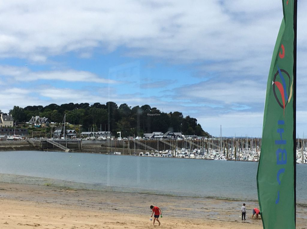 "Photo of CLOSED: Cafe Vegan de la Plage  by <a href=""/members/profile/CatLovesBeets"">CatLovesBeets</a> <br/>View from the cafe at low tide <br/> July 6, 2016  - <a href='/contact/abuse/image/49352/158085'>Report</a>"