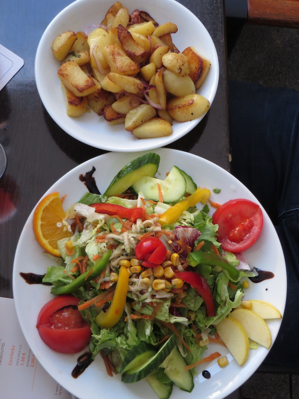 """Photo of Angelos Via Napoli  by <a href=""""/members/profile/VegiAnna"""">VegiAnna</a> <br/>A big Insalata mista with fried potatoes (not on the menu but can be ordered spontaneously) <br/> July 15, 2017  - <a href='/contact/abuse/image/49373/280667'>Report</a>"""