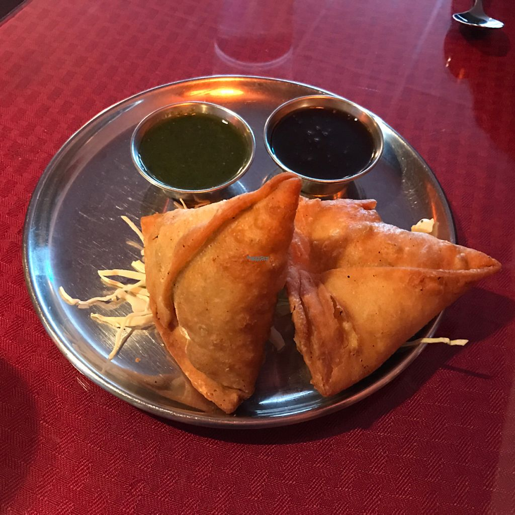 """Photo of Namaste Shangri-la  by <a href=""""/members/profile/Sarah%20P"""">Sarah P</a> <br/>vegetable samosas <br/> December 17, 2016  - <a href='/contact/abuse/image/49388/202302'>Report</a>"""