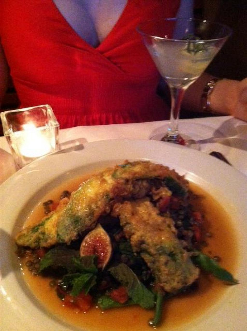 "Photo of Ocean Boulevard Bistro and Martini Bar  by <a href=""/members/profile/AllyRich"">AllyRich</a> <br/>Sautéed Corn and Ivory Lentils <br/> July 31, 2014  - <a href='/contact/abuse/image/49401/75728'>Report</a>"