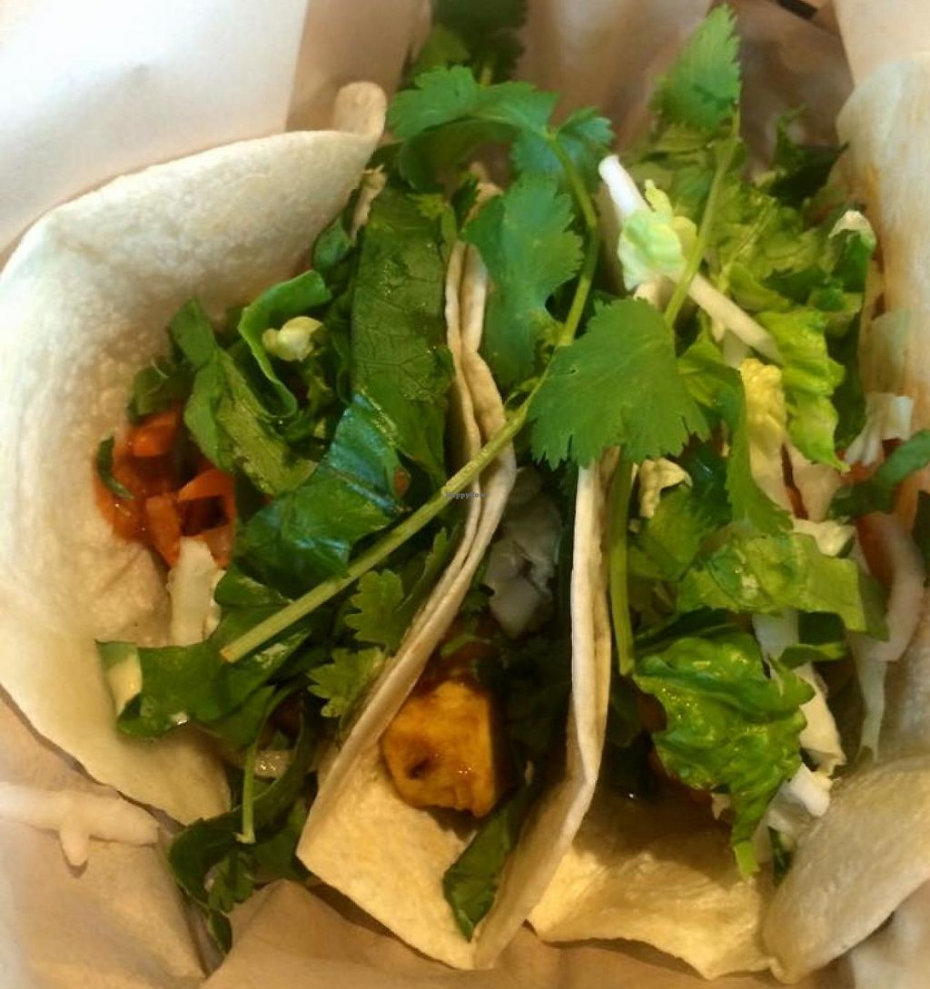 """Photo of Zao Asian Cafe  by <a href=""""/members/profile/Meggie%20and%20Ben"""">Meggie and Ben</a> <br/>Tofu tacos <br/> July 18, 2015  - <a href='/contact/abuse/image/49417/230832'>Report</a>"""