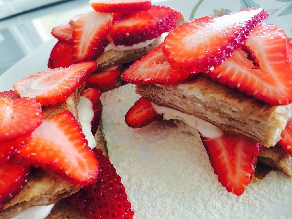 Photo of CLOSED: Sana Raw  by SanaRaw <br/>Strawberry Crepe Cake <br/> July 31, 2014  - <a href='/contact/abuse/image/49424/75734'>Report</a>