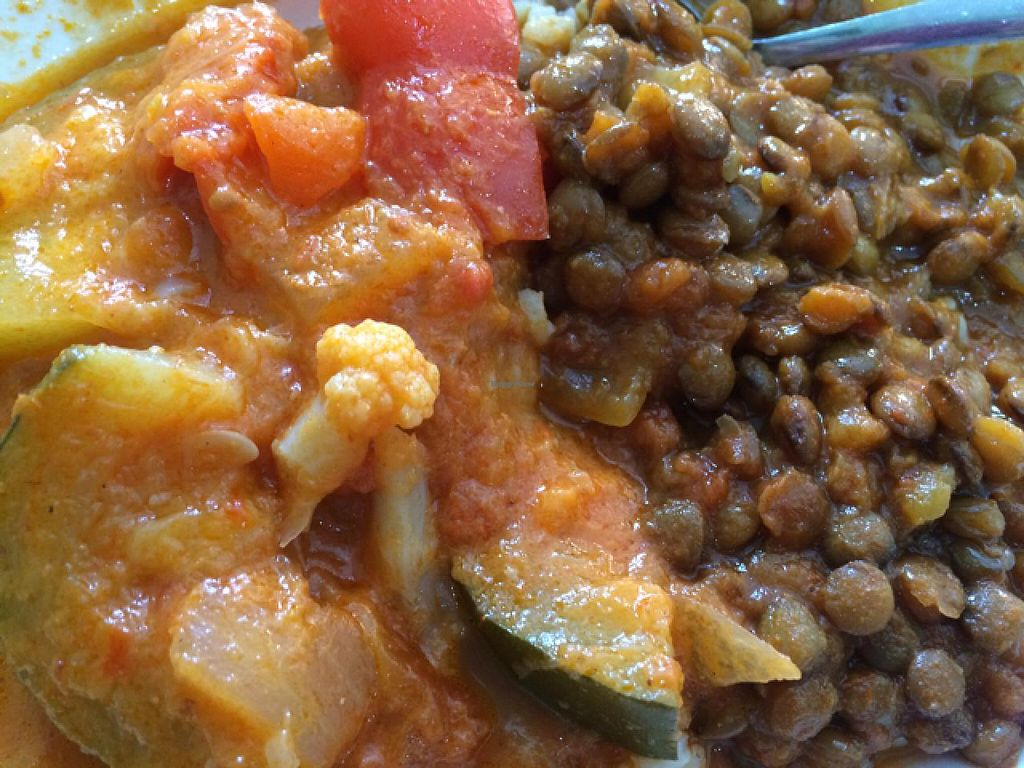 """Photo of CLOSED: The Forest Food Lounge  by <a href=""""/members/profile/Adro84"""">Adro84</a> <br/>Forrest Bowl w/ Ginger Dahl, Red Thai curry and rice <br/> December 19, 2014  - <a href='/contact/abuse/image/4951/88278'>Report</a>"""