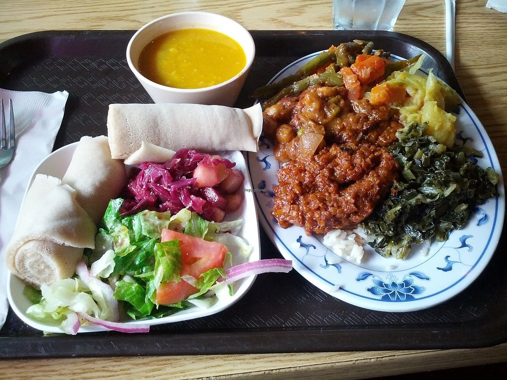 "Photo of Blue Nile Cafe  by <a href=""/members/profile/Justin%20K."">Justin K.</a> <br/>One trip through the buffet - so many tasty vegan options! <br/> October 3, 2017  - <a href='/contact/abuse/image/4963/311194'>Report</a>"