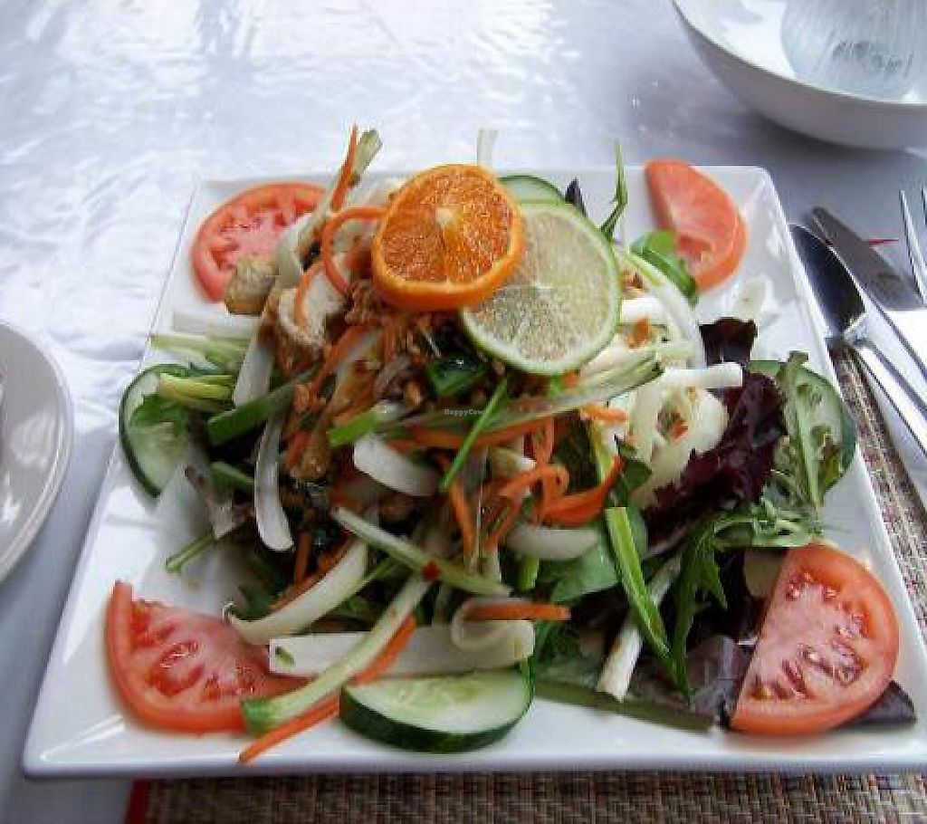 """Photo of My Thai Vegan Cafe  by <a href=""""/members/profile/veganmiss"""">veganmiss</a> <br/>Thai basil salad <br/> December 28, 2011  - <a href='/contact/abuse/image/4965/190905'>Report</a>"""