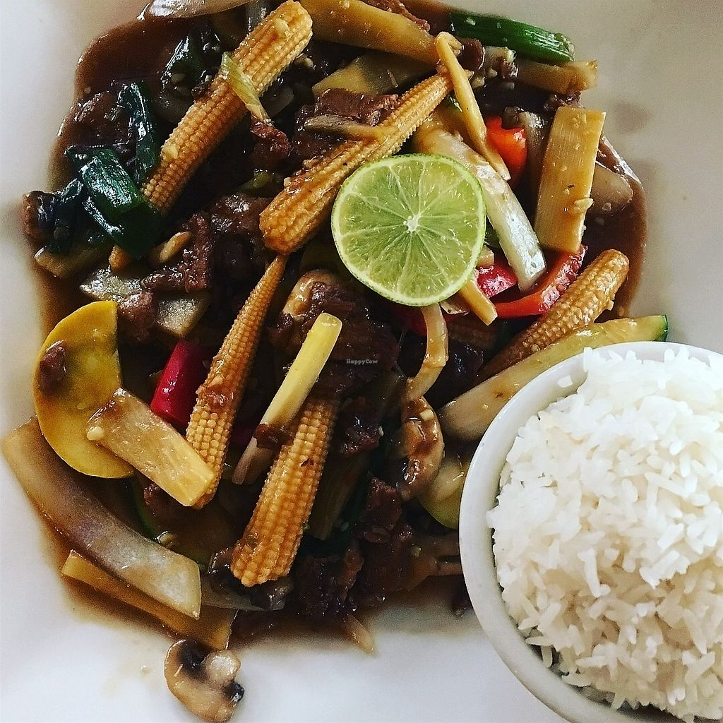 """Photo of My Thai Vegan Cafe  by <a href=""""/members/profile/kelwood13"""">kelwood13</a> <br/>Lemongrass Beef <br/> July 24, 2017  - <a href='/contact/abuse/image/4965/284101'>Report</a>"""