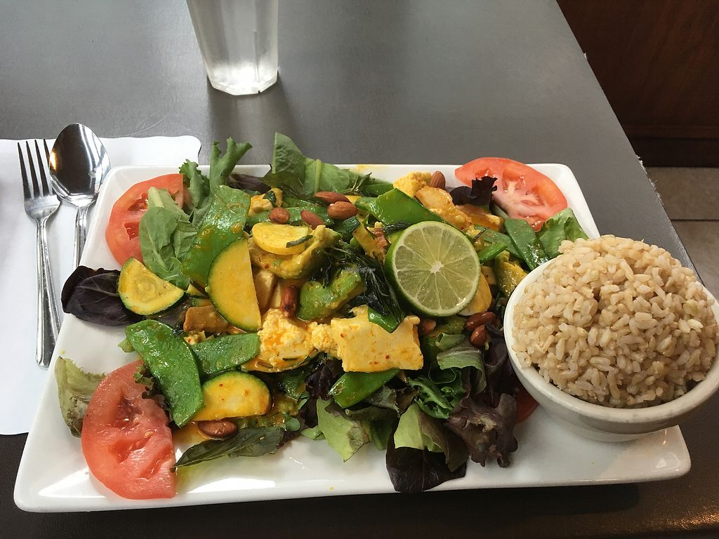 """Photo of My Thai Vegan Cafe  by <a href=""""/members/profile/KathrinPeters"""">KathrinPeters</a> <br/>Pumpkin Special <br/> September 6, 2017  - <a href='/contact/abuse/image/4965/301618'>Report</a>"""