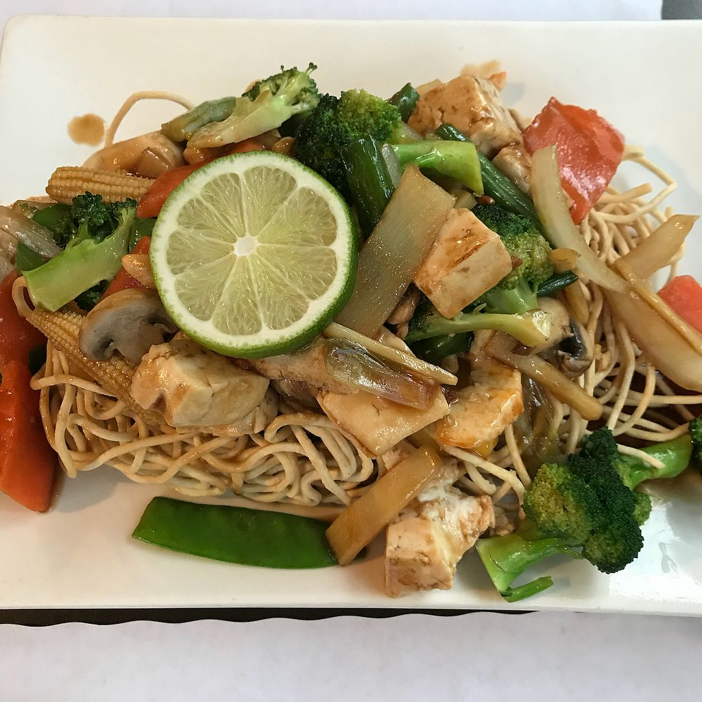 """Photo of My Thai Vegan Cafe  by <a href=""""/members/profile/Sarah%20P"""">Sarah P</a> <br/>Crispy noodles special <br/> December 23, 2017  - <a href='/contact/abuse/image/4965/338456'>Report</a>"""
